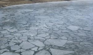 треснул лед река утонул весна