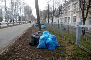 субботник мусор мешки уборка